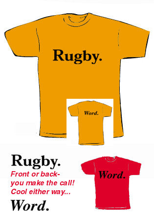 Word. rugby t-shirt