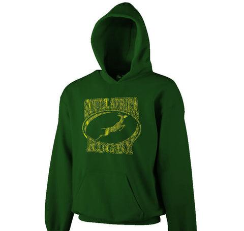 South Africa Distressed Hooded Sweatshirt