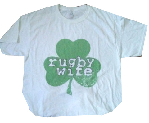SHAMROCK WIFE Rugby T