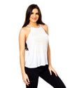 Dirt Alliance Label Me Spaghetti Tank - White
