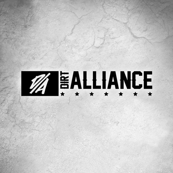 Dirt Alliance Western Block Banner Sticker