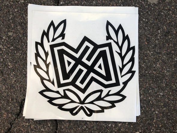 "Dirt Alliance Wreath 12"" Decal"