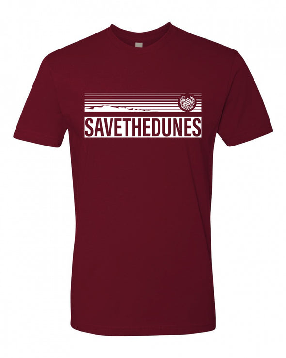 Dirt Alliance Save the Dunes T-Shirt - Maroon