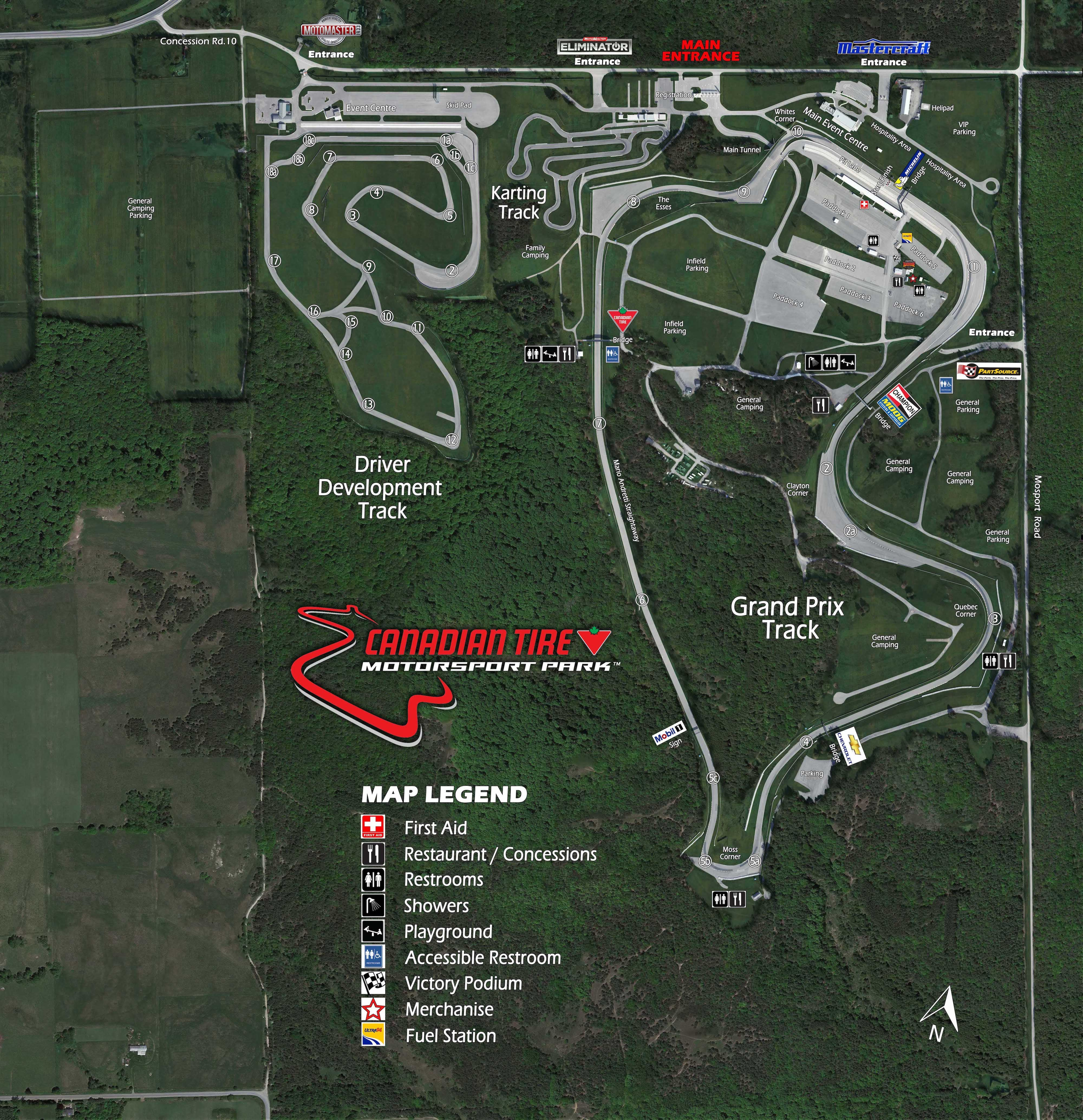Facility Map – Canadian Tire Motorsport - Official Site