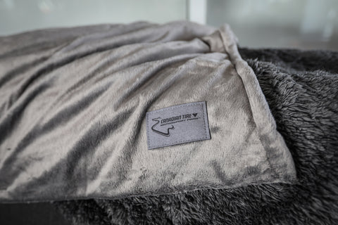 CTMP Oversize Charcoal Alpaca Throw Blanket