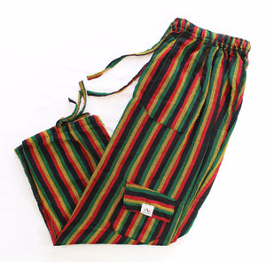 (Medium) Rasta Blackish Lounge Pants 0015