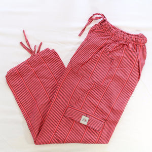 (Medium) Pink and Blackish Stripes Lounge Pants 0021
