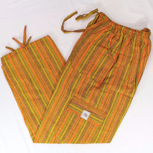 (Medium) Orangish and Greenish Lounge Pants 0031