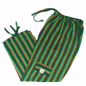 (Small) Greenish Rasta Lounge Pants 0041