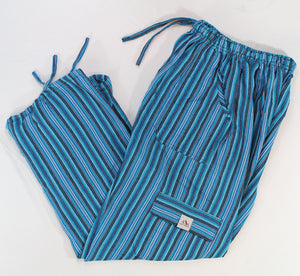 (Large) Lighter Bluish and Stripey Lounge Pants  0066