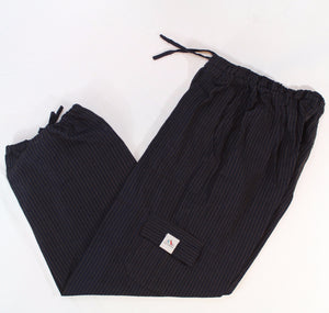 (Medium) Dark Blackish with Brownish Stripes Lounge Pants 0070