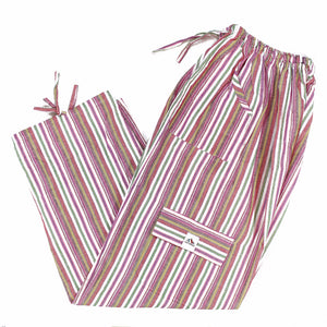 (XL) Pinkish Stripes on White Lounge Pants  0088