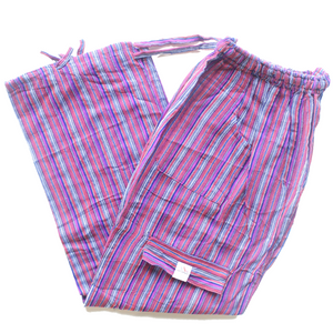 (XL) Redish with Purple and Blue Stripes 0176
