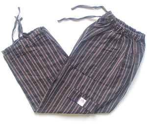 (Medium) Brown and Black with White Stripes 0179
