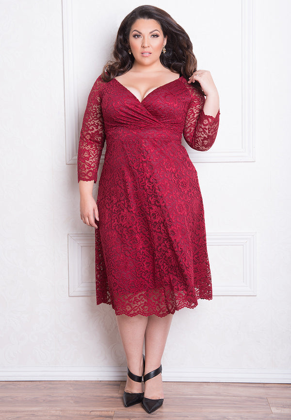 francescalacedress_burgundy_red