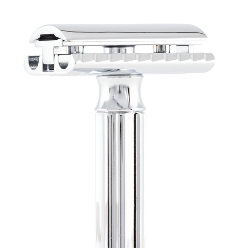 Merkur Progress Adjustable Double Edge Safety Razor, Short Handle, Chrome