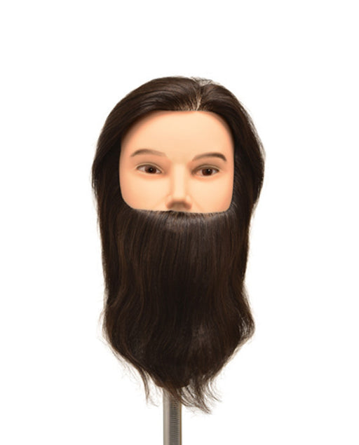 "Dylan Budget Bearded Manikin (9"" Inch Hair, w/ Beard)"