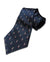 Fine Accoutrements Blue Brush Tie (100% Silk)