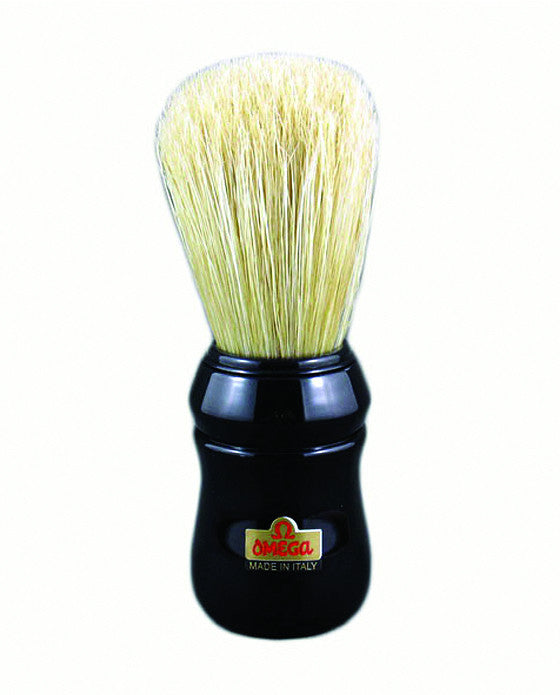 Omega Boar Bristle shaving brush, ABS handle, Black