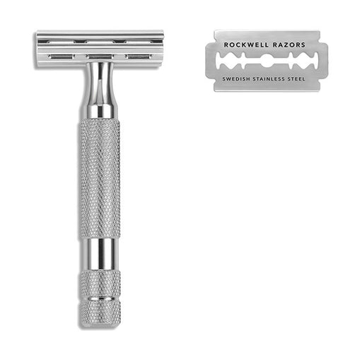 Rockwell Razors 2C Double Edge Razor - White Chrome (Case pack of 4)