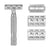 Rockwell Razors 6C Double Edge Razor - White Chrome