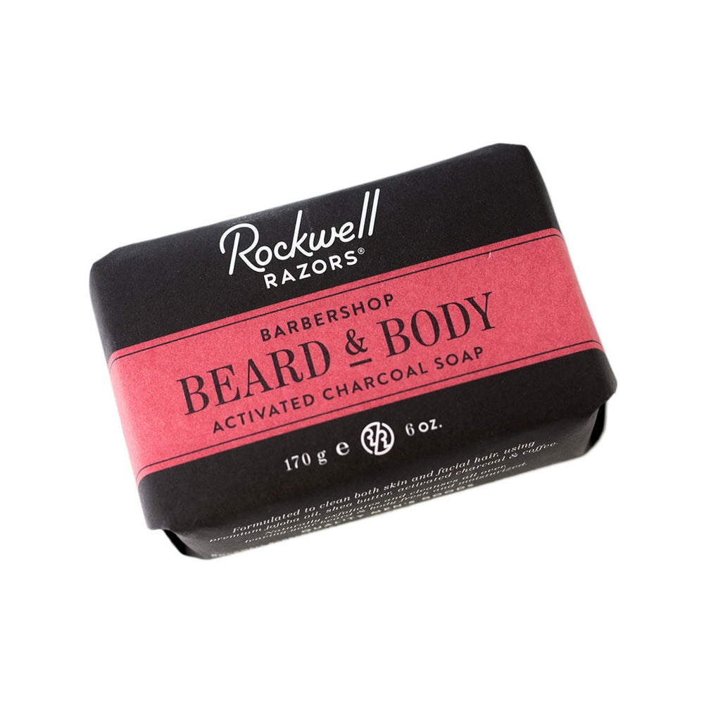 Rockwell Razors Beard & Body Activated Charcoal Soap