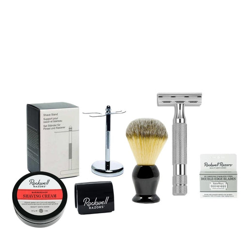 Rockwell Razors Shave Kit with Rockwell 2C-White Chrome