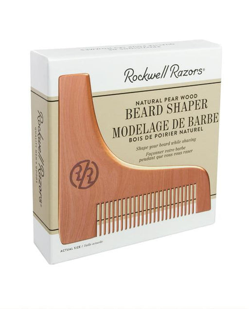 Rockwell Razors Natural Pear Wood Beard Shaper