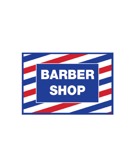 "Barber Shop Vintage Print Window Decal (17.5"" / 12"")"