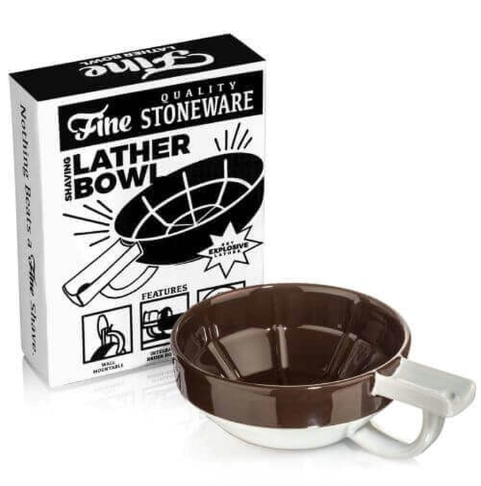 Fine Accoutrements Lather Bowl - Brown/White