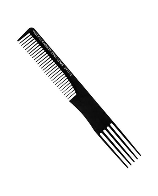 Vincent Professional Carbon Dual Purpose Comb - 7.5""