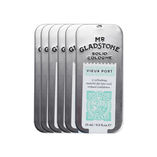 Mr. Gladstone Vieux Port Solid Cologne - Fine Fragrance Reminiscent of 1961 Saint-Tropez (Case Pack of 6)
