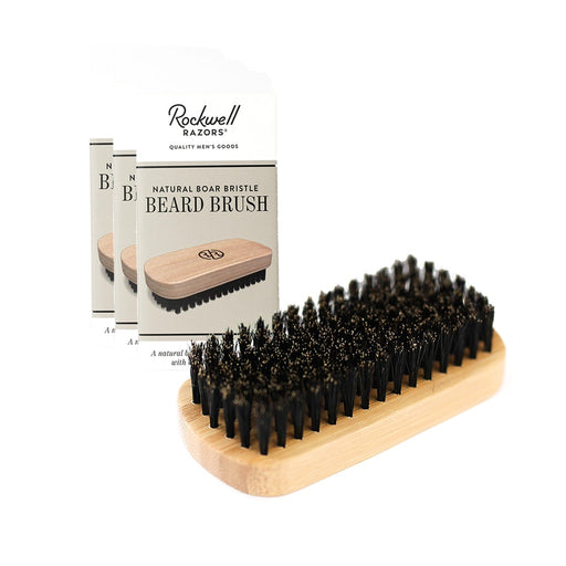 Rockwell Razors Natural Boar Bristle Beard Brush (Case Pack of 4)