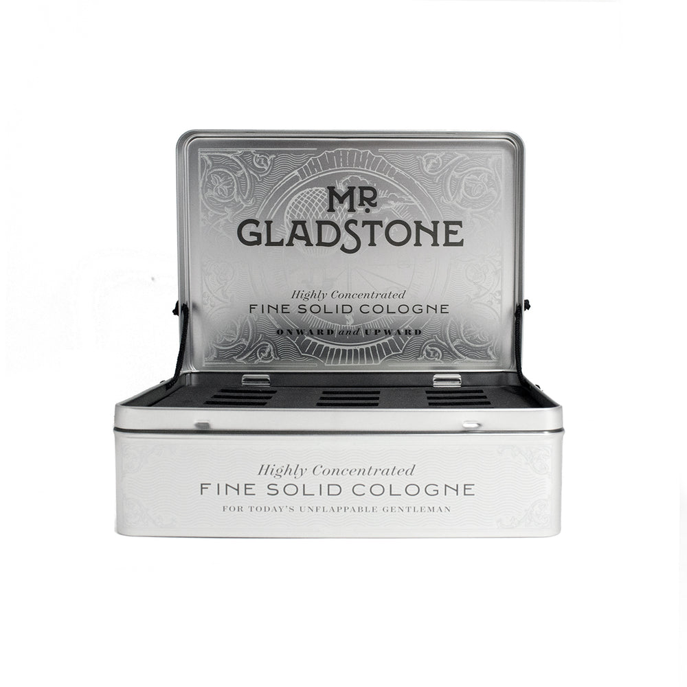 Mr. Gladstone Solid Cologne Empty Display