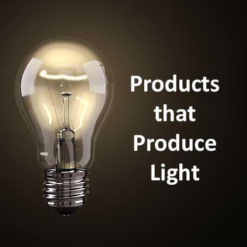 Products That Produce Light