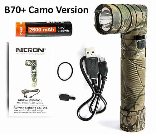 The Disaster Flashlight:  NICRON B70 and B70+ Flashlights.  Unique Twisting Head, 3-Colors of Light and Many More Features Makes this the Best Flashlight for a Disaster.