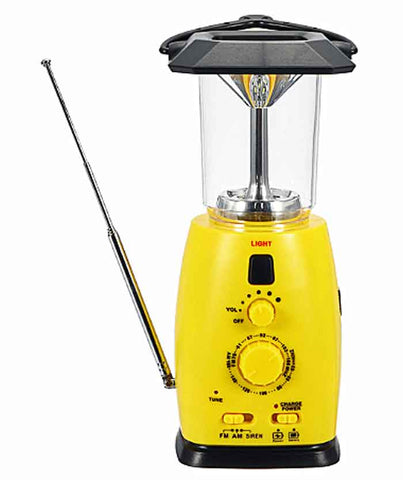Emergency Lantern.  Powerful 8 LED Light. Built In AM/FM Radio, Mobile Phone Charger. 4-Ways to Power.