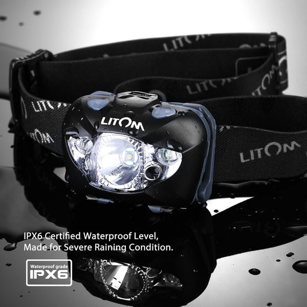 Ultralight Headlamp.  With Gesture Control. Weather Resistant to IPX-6. 3-LEDs: 1-White and 2-Red.  Uses 3 AAA Batteries. As Low As $21.95.