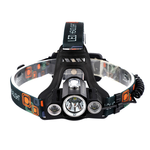Brightest Headlamp. Three T6 LEDs for Maximum Light Output. Switch Mode: High, Medium and Low.  Durable Weather Resistant Aluminum Housing.