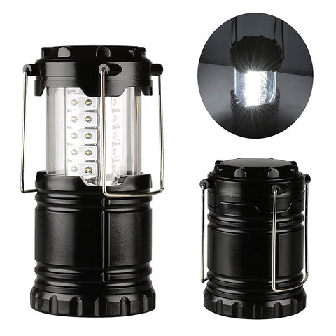 Battery Powered Lantern.  Waterproof IP44. 30 LED Lamp. Collapsible to Save Space.