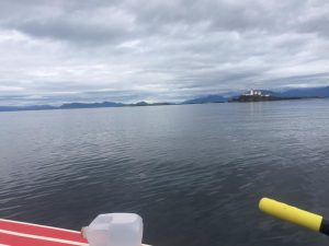 Behind the lighthouse is Alaska!! Colin's getting very close to completing the R2AK.