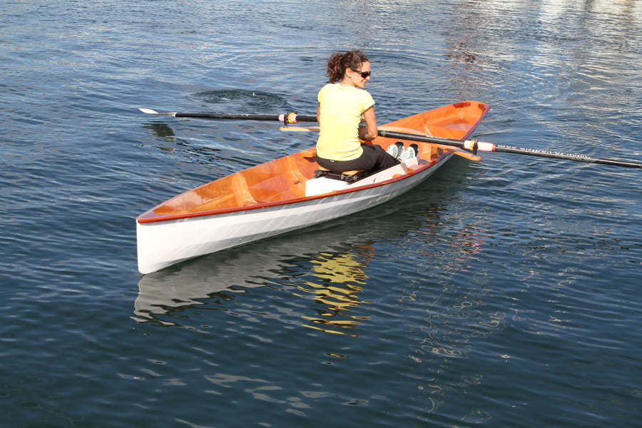 Wooden Oxford Wherry Rowboat Built From Plans - Angus Rowboats