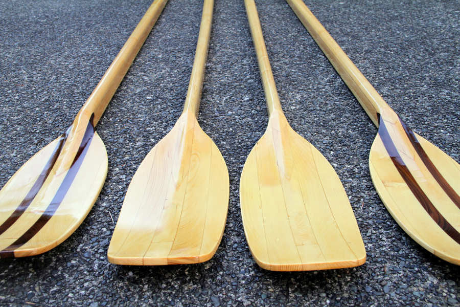 hollow shaft wooden sculling oars built from plans angus rowboats