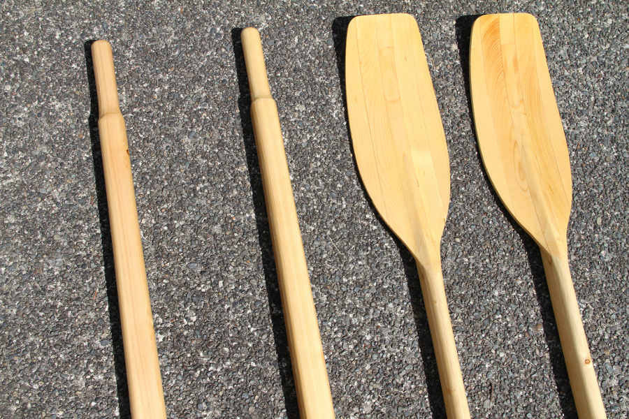 hollow shaft wooden sculling oars built from a kit angus rowboats
