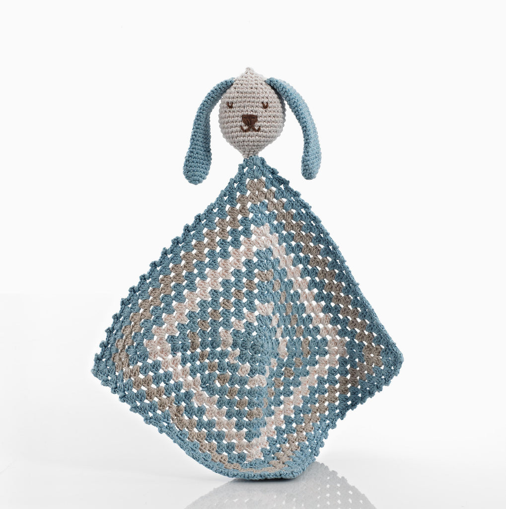 Organic Cotton Bunny Cuddly Cloth - delicate light blue