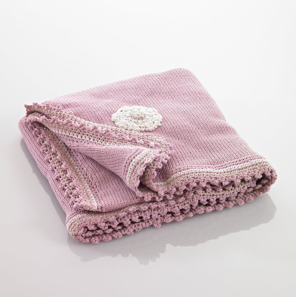 Organic Cotton Baby Blanket - Old Pink