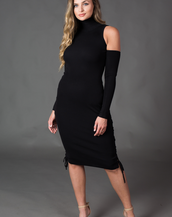 Janet Long Sleeve Tie-Up Dress