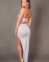 BIANCA GREY TWO PIECE BOTTOM