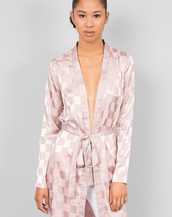 Esther Blush Satin Cover Up