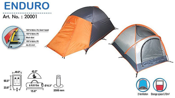 High Peak Enduro Expedition-Quality 4 Season Tent / 2 Person
